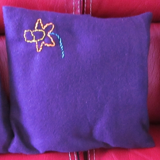 Coussin jonquille 1