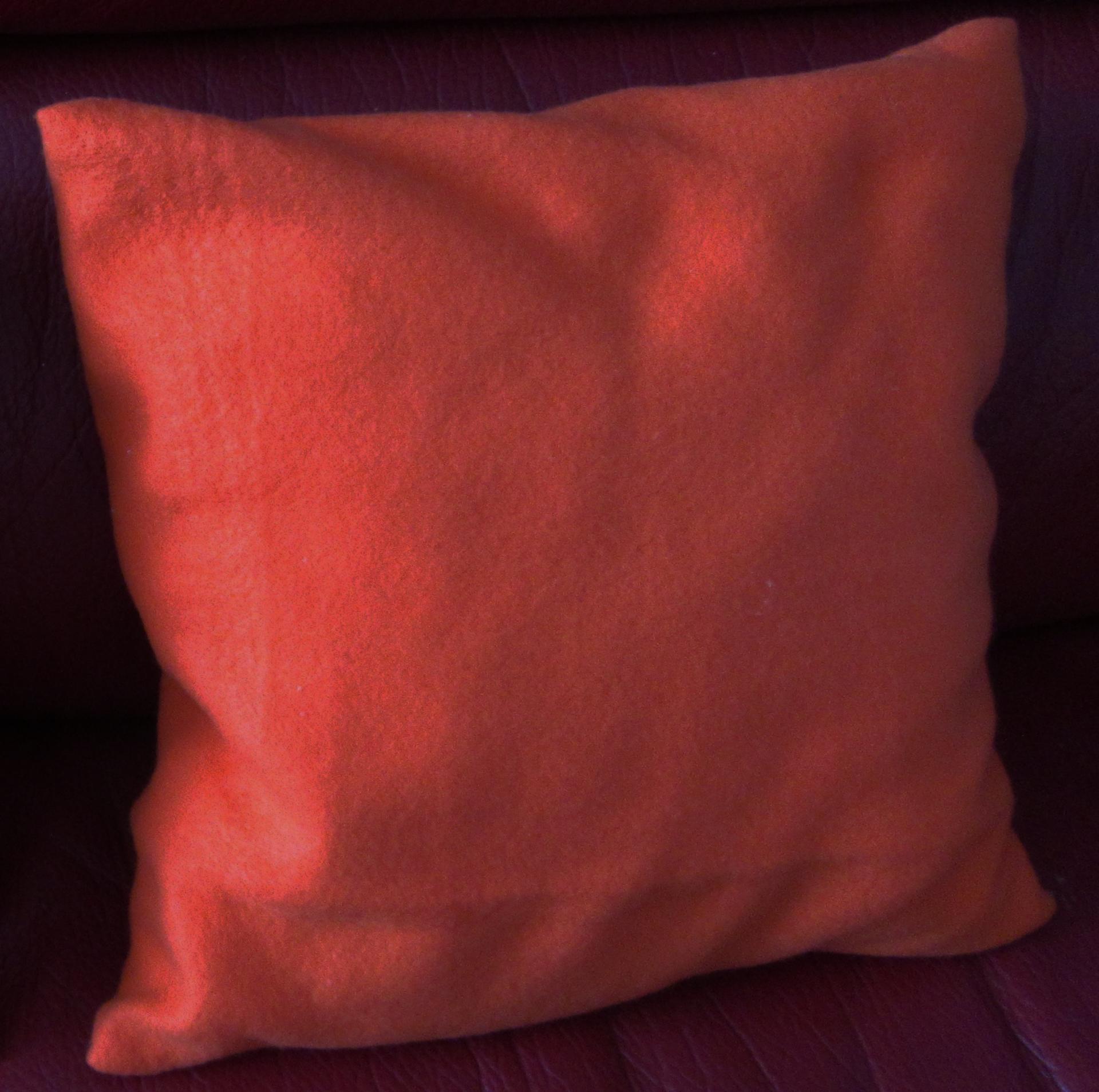 Coussin polaire orange