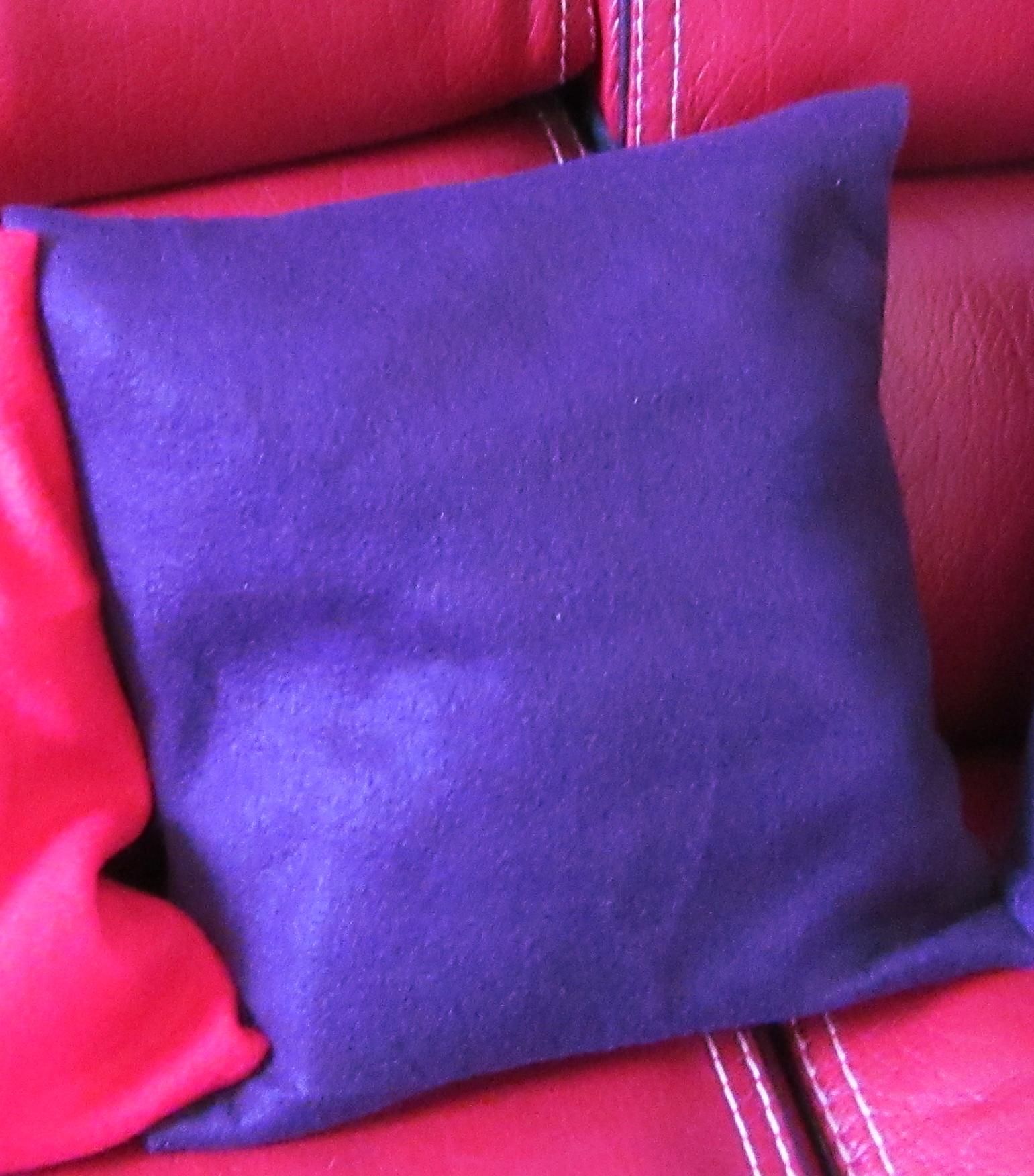 Coussin violet a