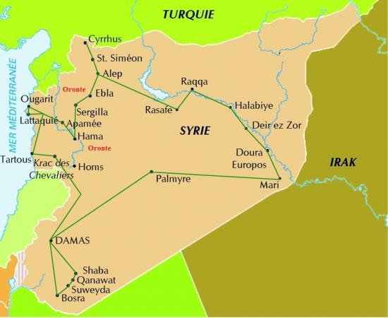 Oronte carte du fleuve oronte norias hama syrie plaine de la bekaa 6