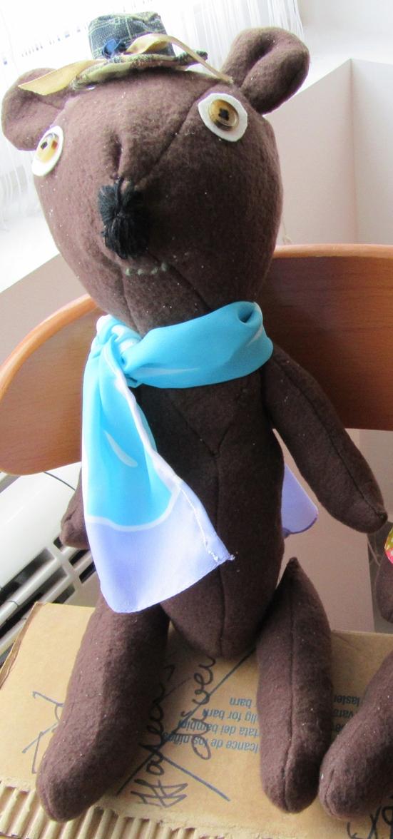 Ours foulard bleu 1