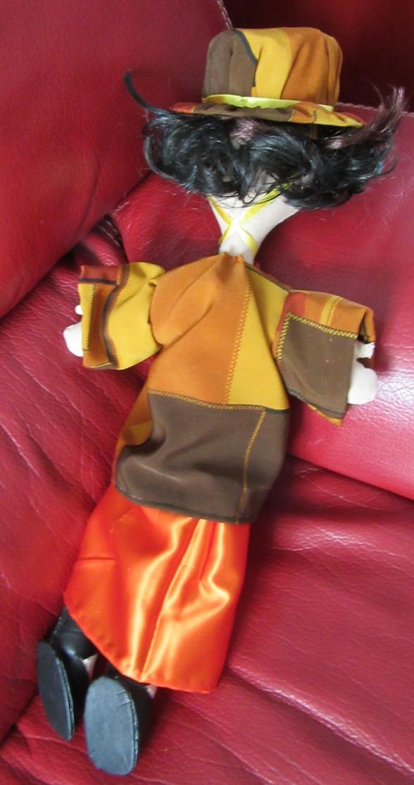 Poup chif robe orange dos