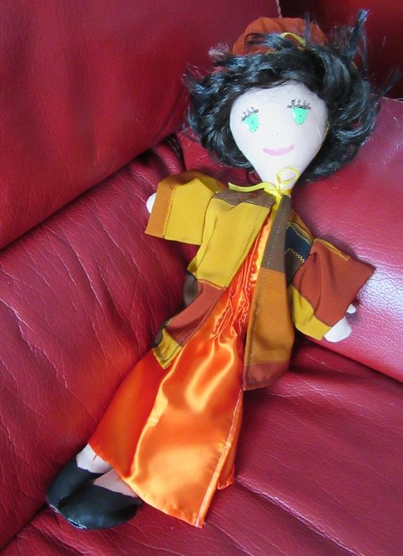 Poup chif robe orange